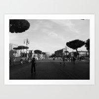 All Roads Lead To Rome Art Print