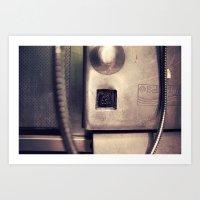 Pay Phone VI Art Print