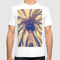 Tenerife Palm Tree Mens Fitted Tee SMALL White