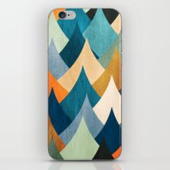 iPhone & iPod Skin featuring Eccentric Peaks by Diogo Verissimo