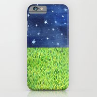 iPhone & iPod Case featuring Grass & Stars by robyn wells