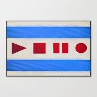 Chicago Flag Canvas Print