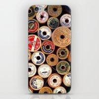 Vintage Sewing Thread Spools iPhone & iPod Skin