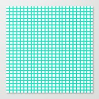 LINES In MINT Canvas Print