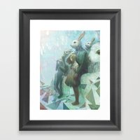 The Rabbits Are Here Framed Art Print