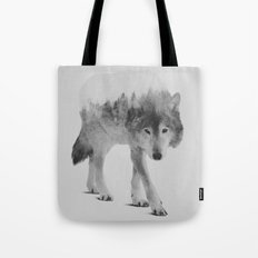 Wolf In The Woods (black… Tote Bag