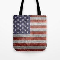 Flag Of The United State… Tote Bag