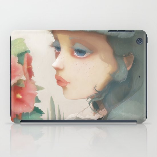 Pensees et roses tremieres iPad Case