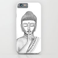 iPhone & iPod Case featuring Shh... Do not disturb - Buddha by Vanya