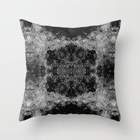 River Foam Collage Throw Pillow