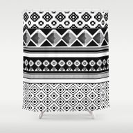 Shower Curtain featuring Modern Black 2 by Contemporary