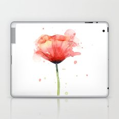 Red Poppy Watercolor | Floral Illustration Laptop & iPad Skin