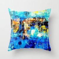 In and Out of the Blue Throw Pillow