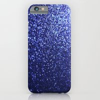 iPhone & iPod Case featuring Royal Blue Glitter Sparkles by xjen94