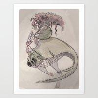 Clown Queen Art Print