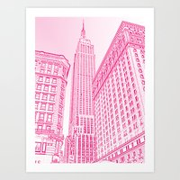 A Pink Empire Art Print