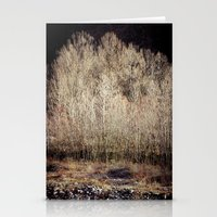 Birches in Winter Stationery Cards
