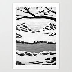 Scissortail Winter Art Print