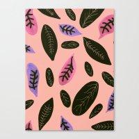 Peachyleaf Canvas Print