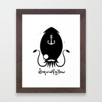 Squidfellow Logo Framed Art Print