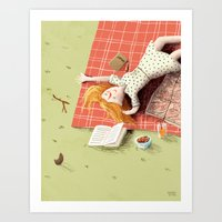 Picknick with your thoughts Art Print