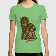 T-shirt featuring Steampunk Kitty by Thomcat23