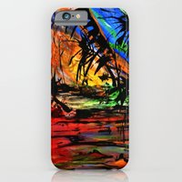 iPhone & iPod Case featuring Fire & Flood by Helen Syron