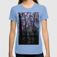 Through (variation) Womens Fitted Tee Tri-Blue SMALL