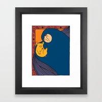 Golden Pig Framed Art Print