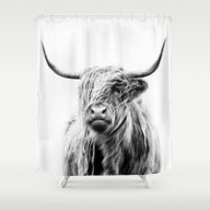 Shower Curtain featuring Portrait Of A Highland C… by Dorit Fuhg