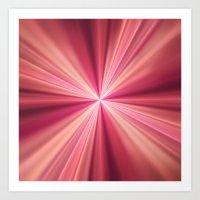 Pink Rays Abstract Fract… Art Print