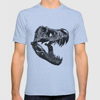 T Rex Mens Fitted Tee Athletic Blue SMALL