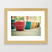 Rainbow Mugs Framed Art Print