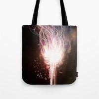 Fireworks Tracer Tote Bag