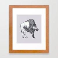 The Catoblepas Framed Art Print