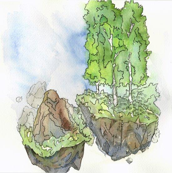 Floating Islands Art Print