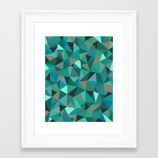 Frost Forest Framed Art Print
