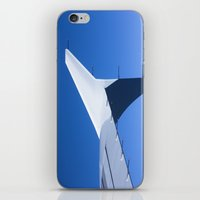 Airplane Wing On A Blue … iPhone & iPod Skin