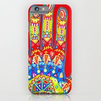iPhone & iPod Case featuring A really colourful hand by Sára Szabó