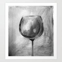 B&Wine Art Print