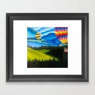 Acrylic Hot Air Balloons Framed Art Print