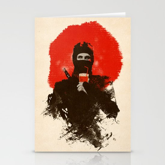American ninjas like Bloody Mary Stationery Card