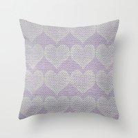 Heart Fabric Throw Pillow