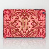 Radiate (Red Yellow Ochr… iPad Case