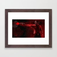 The Walking Dead Rick Grimes oil painting effect Framed Art Print