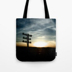 Sunset on the Road Tote Bag