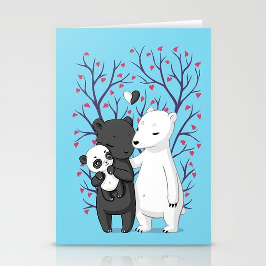Bear Family Stationery Card