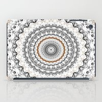 Black, Gold, and White iPad Case
