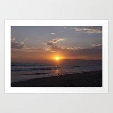 Sunset at Point Dume Art Print