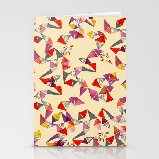 watercolour geometric shapes Stationery Card